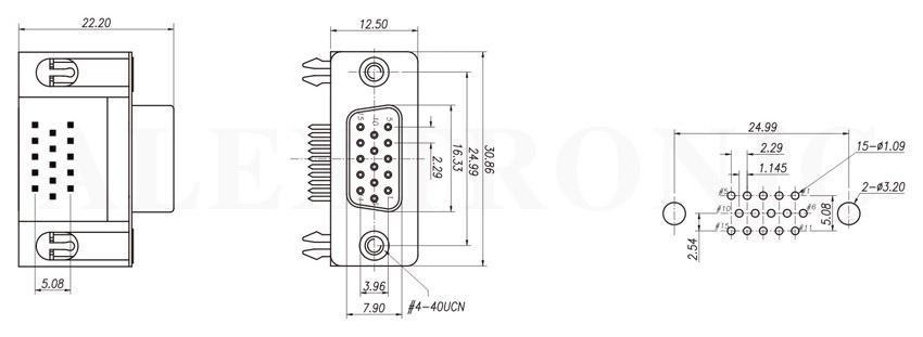 d-sub socket - alextronic