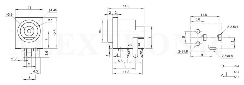 dc power jack - alextronic