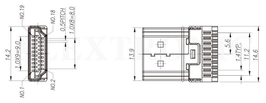 hdmi socket - alextronic