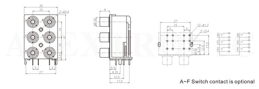 rca jack pin jack  - alextronic