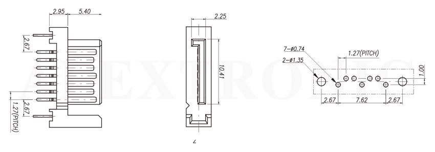 Sata Amp Esata Socket Alextronic Professional In Metal